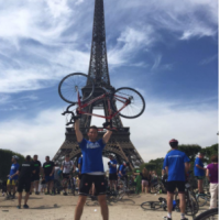 350 miles in 4 days ...Joe completes London - Paris cycle for Headway Cardiff
